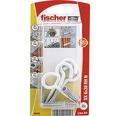 Dibluri plastic cu carlig rotund alb Fischer SX 6x30 mm, 4 bucati