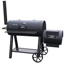 Tenneker® Smoker XL, Grătar cu cărbuni și afumătoare, suprafață gătit 98x44 cm