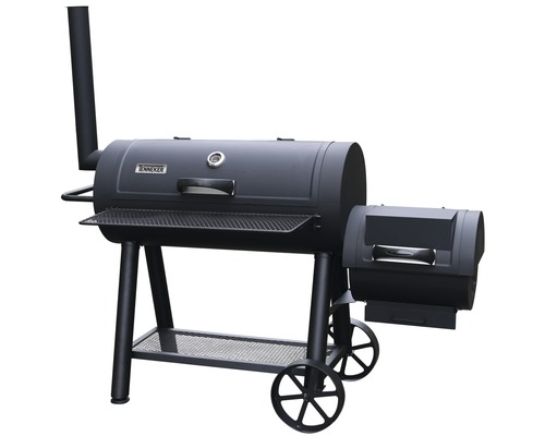 Tenneker® Smoker XL, Gratar cu carbuni si afumatoare, suprafata gatit 98x44 cm