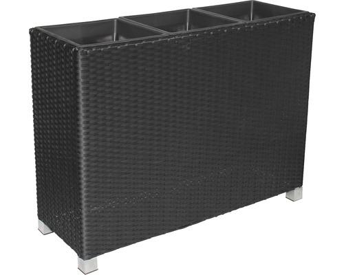 Separator de camera Lafiora, poliratan, 103x36x75 cm, negru