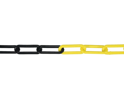 Lant plastic Pösamo Ø6 mm, galben/negru