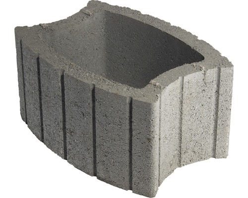 Jardiniera beton elipsa gri