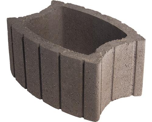Jardiniera beton elipsa maro