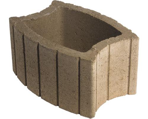 Jardiniera beton elipsa teracota
