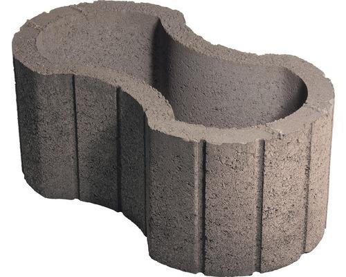 Jardiniera beton clepsidra maro