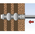 Dibluri plasă din plastic Fischer FIS-H 12x85 mm, 4 bucăți, pentru mortar chimic