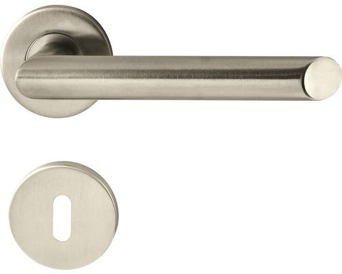Mânere cu rozetă ușă interior Pertura Orva, pentru cheie BB, oțel inoxidabil