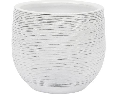 Masca pentru flori, Le Havre, ceramica, Ø 16 cm, alb