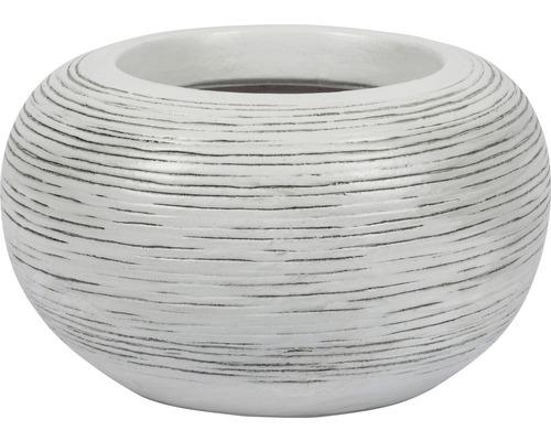 Masca pentru flori, Le Havre, ceramica, Ø 19 cm, alb