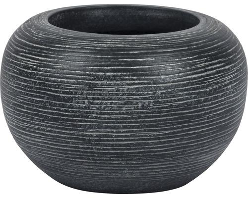 Mască ghiveci Le Havre ceramică Ø 19 cm H 13 cm gri
