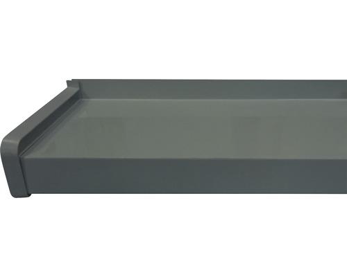 Glaf exterior Bravo aluminiu gri 16,5x150 cm
