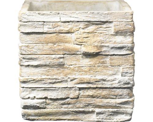 Masca pentru flori Soendgen Latina Stonewall, ciment, 21x21x21 cm, bej