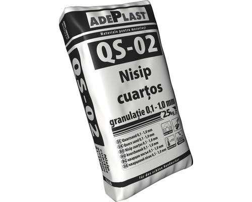 Nisip cuartos Adeplast Quartz granulatie 0,1-1 mm 25 kg