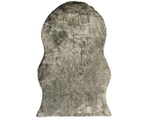 Covor blana artificiala Shape neagra 140x200 cm