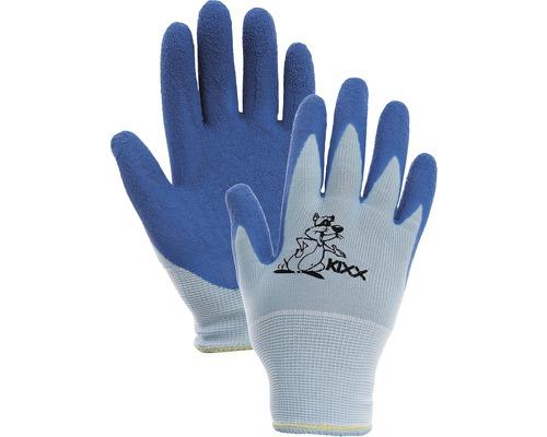 Manusi nailon, latex Chunky, albastru 5