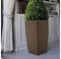 Ghiveci tip vaza Lafiora, material plastic, 31x31x57 cm, maro, inclusiv set de udare a pamantului si indicator al nivelului de apa