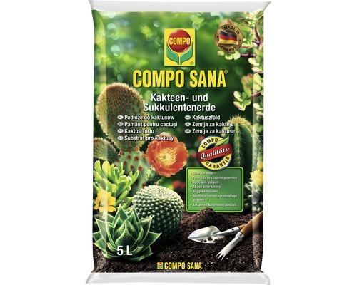 Pământ pentru cactuși și plante suculente Compo Sana 5 l