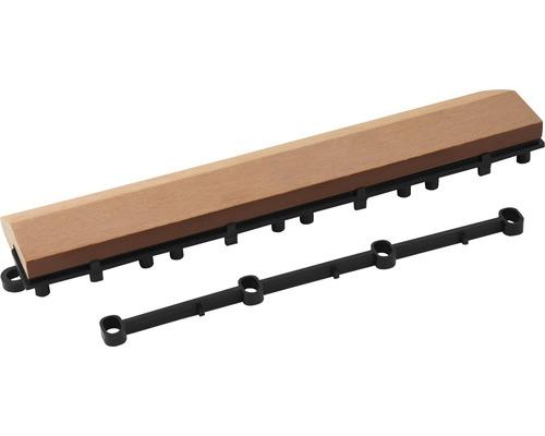 Element lateral pentru pavaj click WPC universal, 30x7x2,8 cm, maro