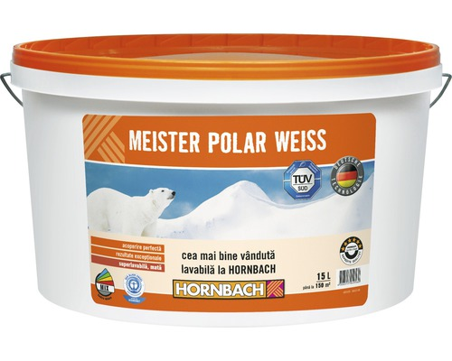 Vopsea lavabila Meister Polar Weiss 15 l