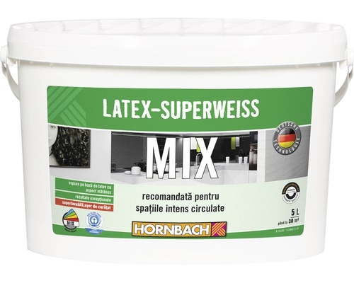 Vopsea pe baza de latex Latex Superweiss in nuanta dorita, 5 l