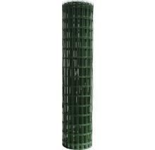 Plasă gard zincată, plastifiată Hortaplast, 2 x 25 m, verde
