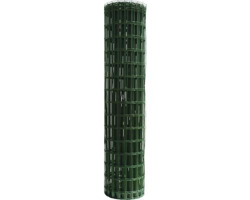 Plasa gard zincata, plastifiata Hortaplast, 2 x 25 m, verde