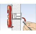Dibluri universale multifunctionale fara surub Fischer DuoTec Ø10x50 mm, 20 bucati, pentru perete fals sau zidarie