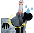 Ghiveci tip vaza Lafiora, plastic, 36x36x66 cm, alb lucios, inclus set de udare a pamantului si indicator al nivelului de apa