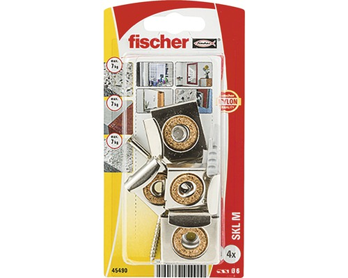 Set pentru montaj oglinzi Fischer SKL-M 6x30 mm, 4 piese