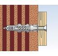 Dibluri plastic fara surub Fischer UX 8x50 mm, 10 bucati, cu guler
