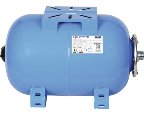 Vas rezervor hidrofor orizontal, capacitate 24 l, cu suport pompa