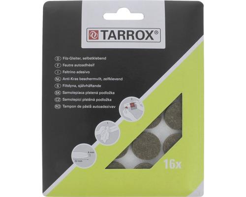 Protectie rotunda pasla Tarrox 22x6mm maro, pachet 16 bucati, autoadezive