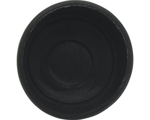 Capac din plastic Tarrox 25mm, negru, 8 bucati, pentru picioare de masa rotunde