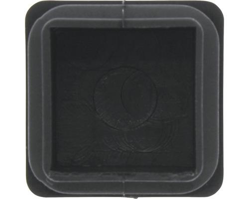 Capac din plastic Tarrox 20mm, negru, 16 bucati, pentru picioare de masa patrate