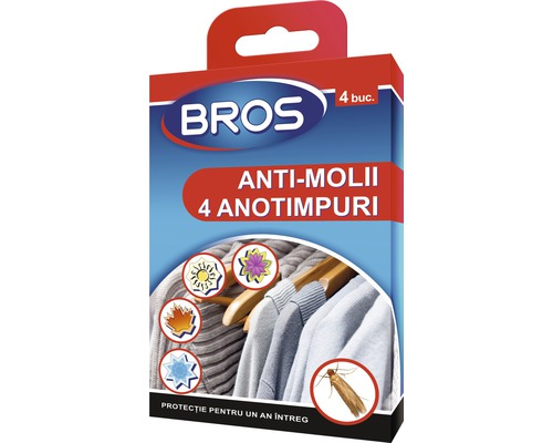 Tablete Bros anti-molii, 4 buc