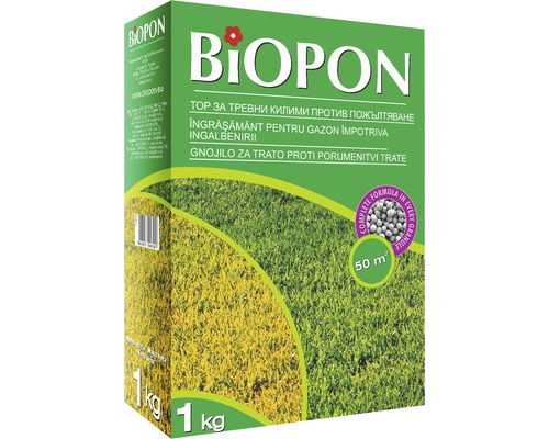 Ingrasamant Biopon pentru gazon impotriva ingalbenirii, 1 kg