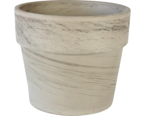 Ghiveci Spang Calima, argila, Ø 24 h 21,5 cm, bazalt