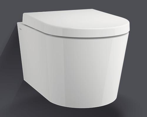 Jungborn Set WC Lata cu ramă de clătire deschisă, alb, cu capac WC