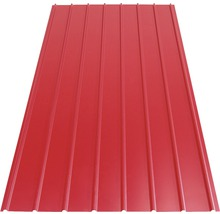 Tablă cutată Bravo H12 2500x910x0,3 mm roșie