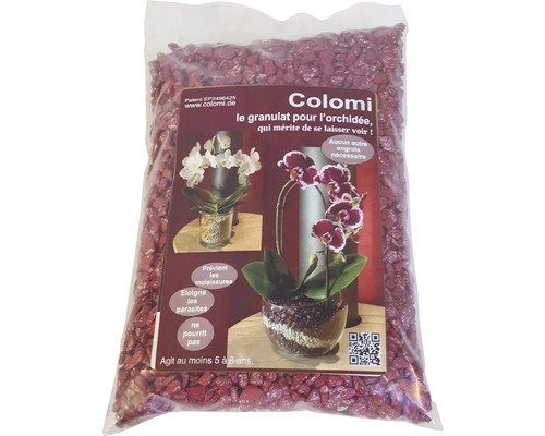 Granulat Colomi pentru orhidee, 1 l, rosu