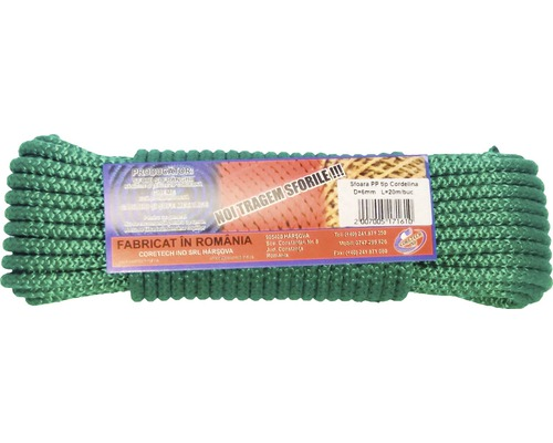 Cordelina polipropilena Coretech Ø6mm x 20m, verde