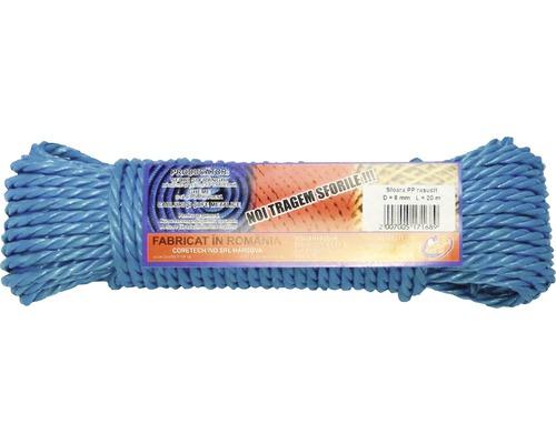 Sfoara polipropilena rasucita Coretech Ø6mm x 20m, culoare albastra