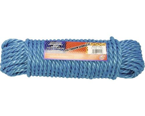 Sfoara polipropilena rasucita Coretech Ø10mm x 20m, culoare albastra