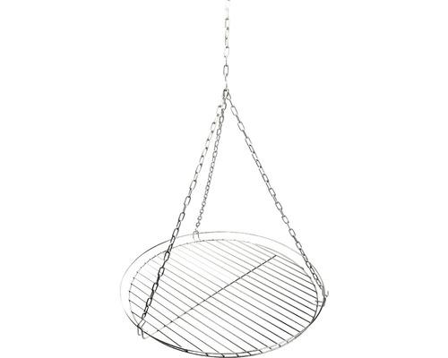 Gratar Ø 50 cm, otel inoxidabil cu lant