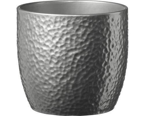 Masca pentru flori Soendgen Boston, ceramica, Ø 13 cm, argintiu