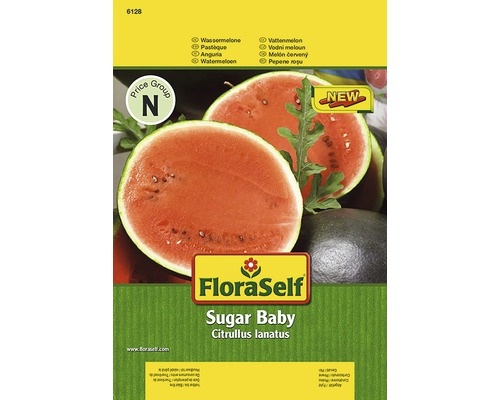 "Seminte de legume FloraSelf, pepene verde ""Sugar Baby"""