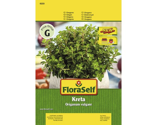 """Semințe de plante aromatice FloraSelf, oregano """"Creta"""""""