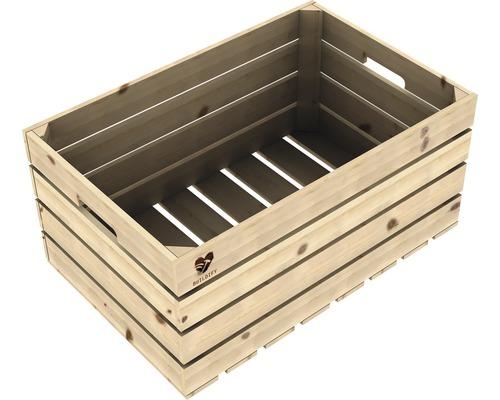 Lada lemn netratat Buildify 60x39x30 cm