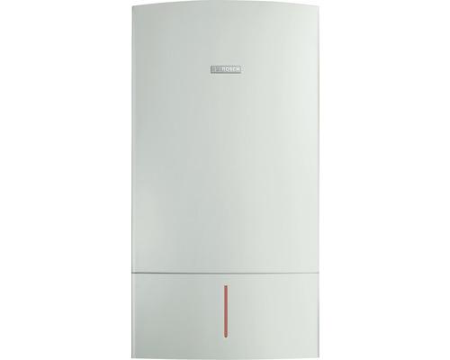 Pachet centrala termica pe gaz cu condensare Bosch Condens 7000 W 28 kW, boiler 160 l, kit evacuare gaze arse