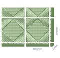 Element lateral pentru pavaj click 1,8x6,2 cm 4 bucati, verde
